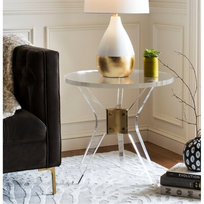 Hoefer Acrylic End Table