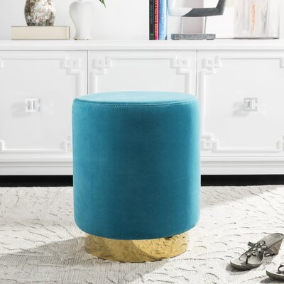 Haynie Ottoman Upholstery: Turquoise
