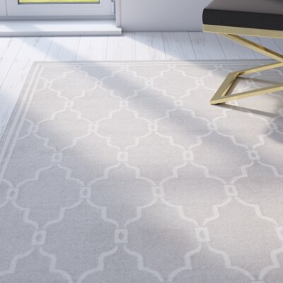 Maritza Light Gray/Ivory Indoor/Outdoor Area Rug Rug Size: Rectangle 8 x 10