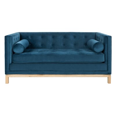 Hoehn Tufted Sofa with Arm Pillows Upholstery: Navy Blue