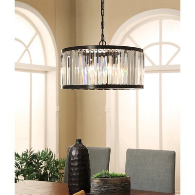 Overton Round 4-Light Crystal Chandelier