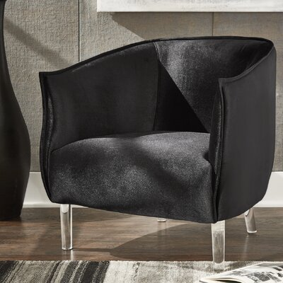 Baver Barrel Chair Upholstery: Black