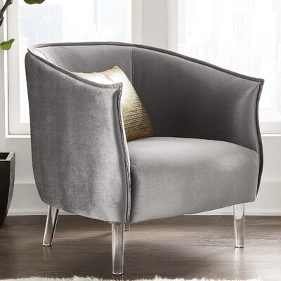 Baver Barrel Chair Upholstery: Silver