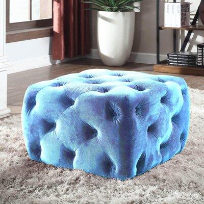 Richborough Cube Ottoman Upholstery: Blue Velvet