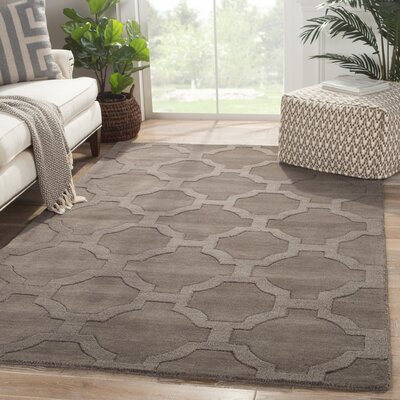 Brompton Hand-Tufted Gray Area Rug Rug Size: Rectangle 2 x 3