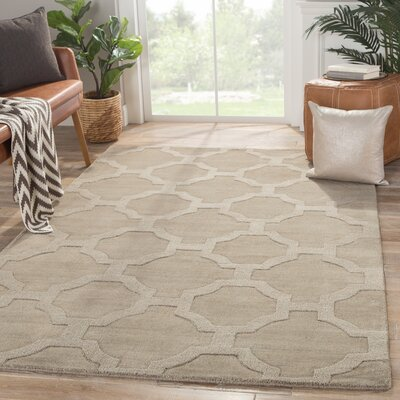 Brompton Hand-Tufted Tan Area Rug Rug Size: Rectangle 2 x 3