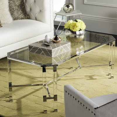 Bethany Coffee Table Color: Silver