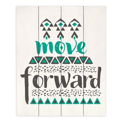Move Forward by Pom Graphic Design Textual Art Plaque WPA-PomGraphicDesignMoveForward2