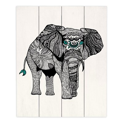 One Tribal Elephant by Pom Graphic Design Painting Print Plaque WPA-PomGraphicDesignOneTribalElephant1