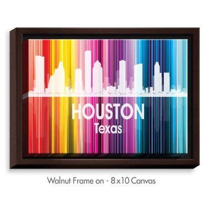 'City II Houston Texas' by Angelina Vick Graphic Art on Wrapped Framed Canvas Size: 13.75