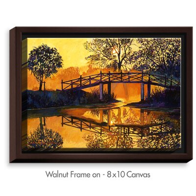 'Solitude' by David Lloyd Glover Painting Print on Wrapped Framed Canvas Size: 13.75