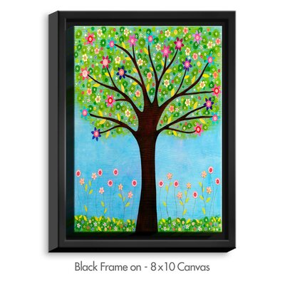 'Sunlight' by Sascalia Graphic Art on Wrapped Framed Canvas Frame Color: Black, Size: 17.75