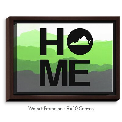 'Home Virginia' by Jackie Phillips Textual Art on Wrapped Framed Canvas Size: 19.75