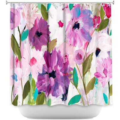 Blossoming Flowers Shower Curtain