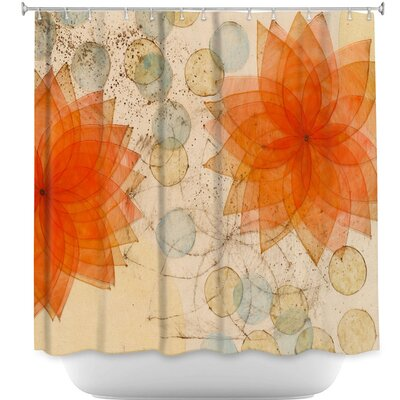 Spacey Flowers Shower Curtain
