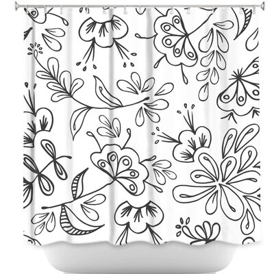 Band with Flora Shower Curtain