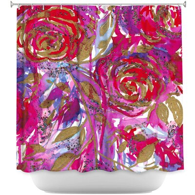 Rose Combustion Shower Curtain