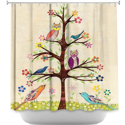 Owl Bird Tree II Shower Curtain