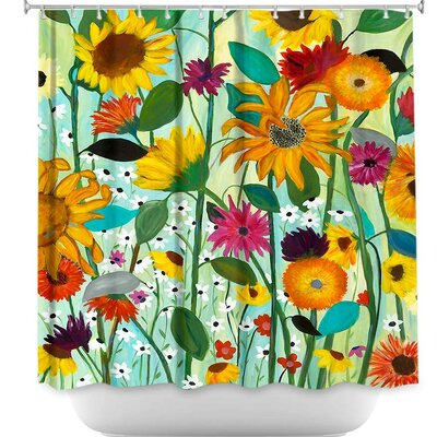 Sunflower House Shower Curtain