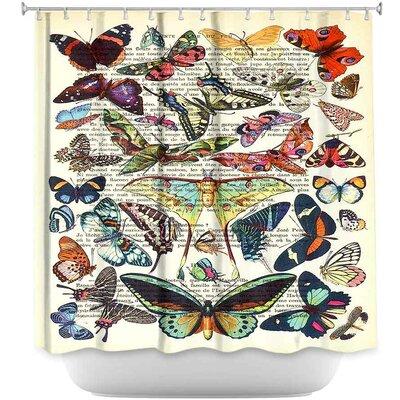 Butterflies Collection Shower Curtain