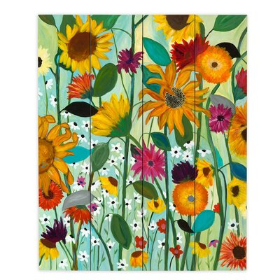 Sunflower House by Carrie Schmitt Painting Print Plaque Size: 20