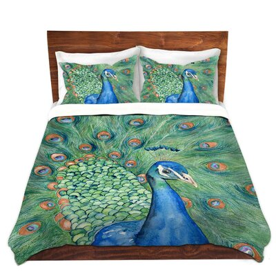 Splendor Peacock Duvet Cover Set Size: Twin