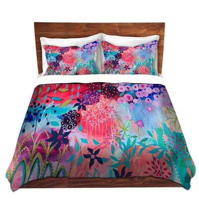 Spirit Garden Flowers Duvet Cover Set Size: Queen
