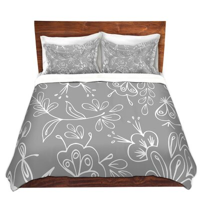 Duvet Cover Set Color: Grey, Size: Queen