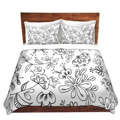 Duvet Cover Set Color: Black, Size: Queen