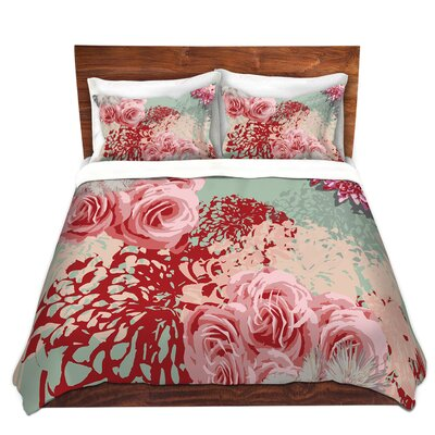 Mint Blush Duvet Cover Set Size: Queen