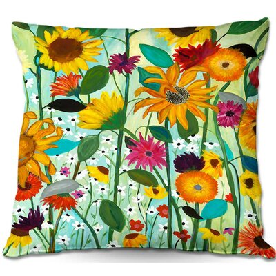 Sunflower Throw Pillow Size: 22 H x 22 W x 5 D