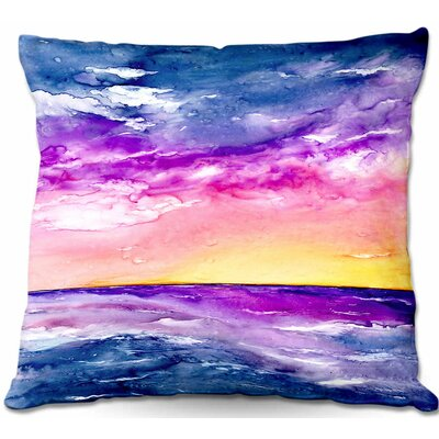 CrownPoint Tormenta Waves Throw Pillow Size: 16 H x 16 W x 4 D