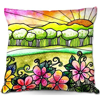 Robin Mead Bright Horizon Throw Pillow Size: 18 H x 18 W x 5 D