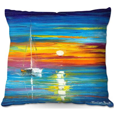 Lost at Sea Throw Pillow Size: 16 H x 16 W x 4 D