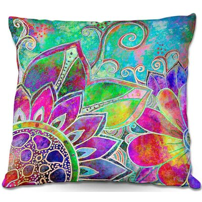 Robin Mead Jubilant Throw Pillow Size: 16 H x 16 W x 4 D