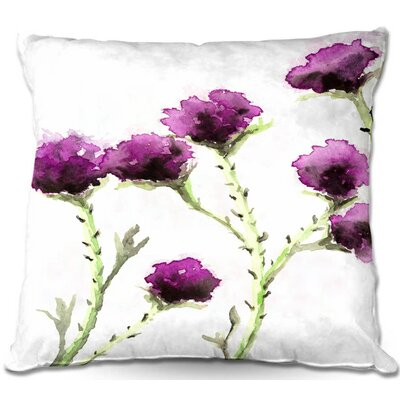 CrownPoint Milk Thistle Throw Pillow Size: 16