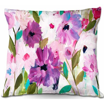 Blossoming Flowers Throw Pillow Size: 22 H x 22 W x 5 D