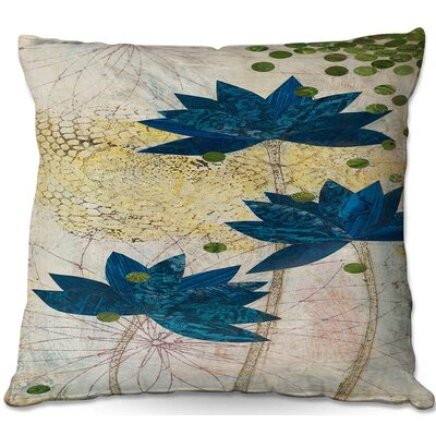 Paper Mosaic Studio Lotus Throw Pillow Size: 18 H x 18 W x 5 D