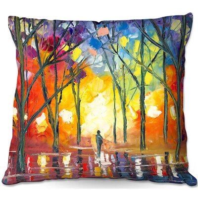 Reflections of the Soul Throw Pillow Size: 16 H x 16 W x 4 D