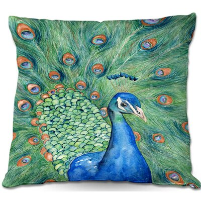 Castillo Splendor Peacock Throw Pillow Size: 22 H x 22 W x 5 D