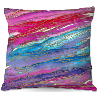 Agate Magic Throw Pillow Size: 16 H x 16 W x 4 D