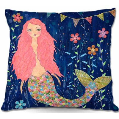 Mermaid Throw Pillow Size: 16 H x 16 W x 4 D