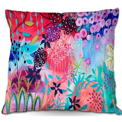 Carrie Schmitt Spirit Garden Flowers Throw Pillow Size: 18