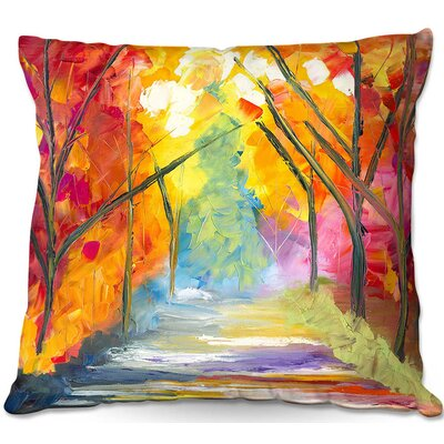 The Road Less Traveled Throw Pillow Size: 22 H x 22 W x 5 D