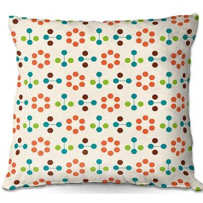 Mid Century FlowerThrow Pillow Size: 16 H x 16 W x 4 D