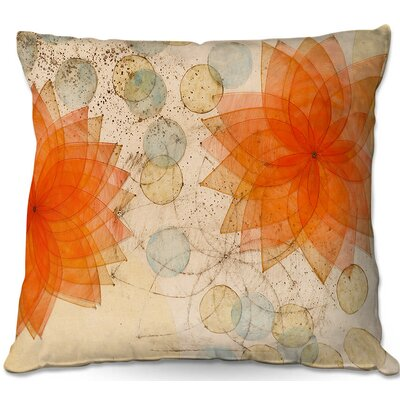 Paper Mosaic Studio Spacey Flowers Throw Pillow Size: 22 H x 22 W x 5 D