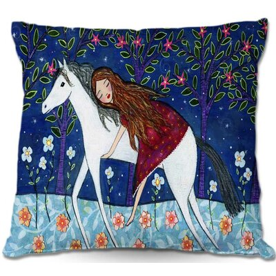 Horse Dreamer Throw Pillow Size: 20 H x 20 W x 5 D