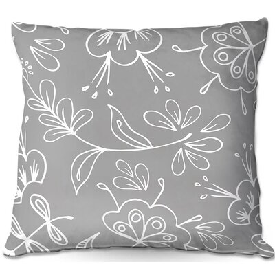 Flora Mix Throw Pillow Size: 16 H x 16 W x 4 D
