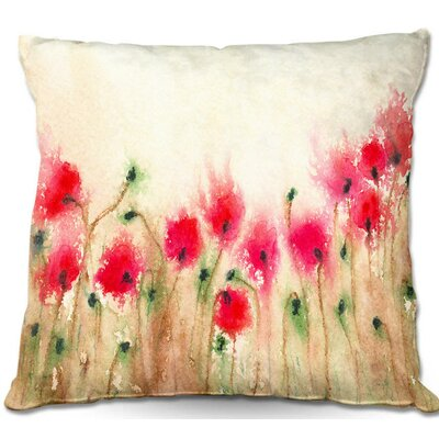 Dunellen Field of Poppies Throw Pillow Size: 16 H x 16 W x 4 D