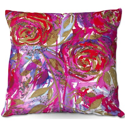 Rose Combustion Throw Pillow Size: 22 H x 22 W x 5 D